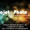 Projet Photo 3/52 : thème et formulaire